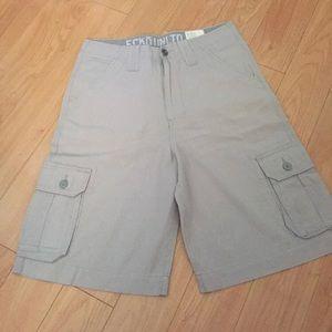 Ecko Unltd Grey Pinstripe Cargo Short,30